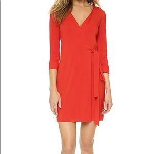 DVF Julian Two mini wrap dress in Sundried Tomato